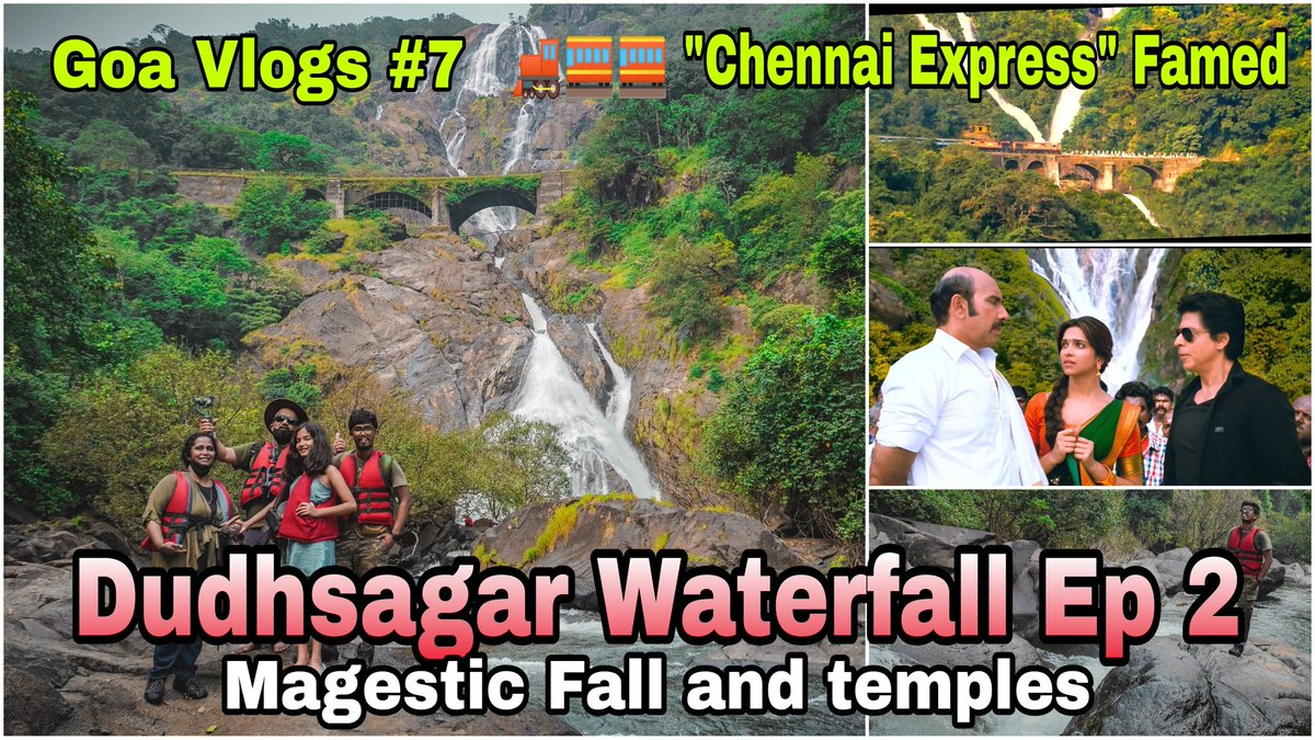 Friends,  Please watch fully - Goa Vlogs #7 Dudhsagar waterfall Ep 2 | View of Majestic Fall & temples - to know thrilling experience of our trip & like, comment & share. Thanx 🙏     #travel #vacation #holidays #weekendgetaway #youtube #goa @MahindraXUV500