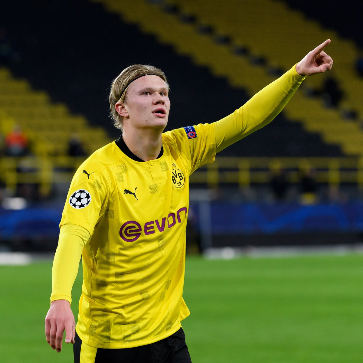🖤💛 Erling Haaland = _______  🤯 15 goals in 12 Champions League games 🔥 32 goals in 31 games for Dortmund  #UCL