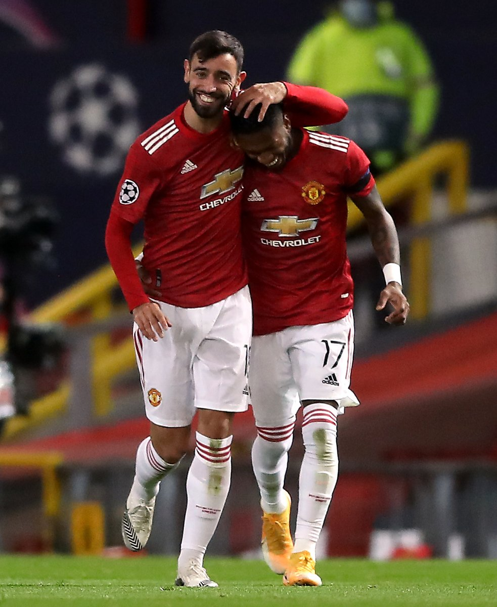 Image for the Tweet beginning: #UCL - HALFTIME:  Man United 3-0