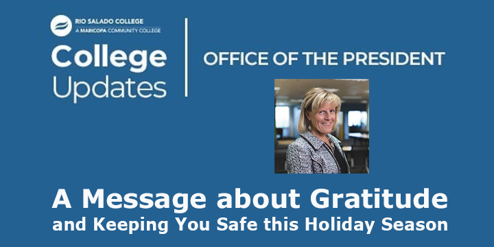 Here is a message from President Smith about gratitude and keeping you safe this holiday season. https://t.co/nk4tA8QoWI   #RioWaves #RioGrad @mcccd #WereInThisTogether #Thanksgiving #gratitude https://t.co/yES69EYRTA