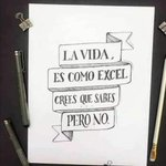 Image for the Tweet beginning: #vida #excel #dificil...ustedes que opinan