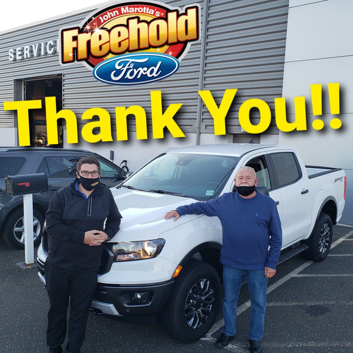 Congratulations Nickolas, on your beautiful new Ford Ranger from Freehold Ford!!  #freeholdford #fordperformance #FORDMOTORCOMPANY #ford #freeholdfordfamily #freeholdtownship #ranger #fordranger @FreeholdFord @Ford @FordPerformance https://t.co/HykH9JQfZm