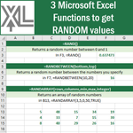 Image for the Tweet beginning: 3 #Microsoft #Excel Functions to