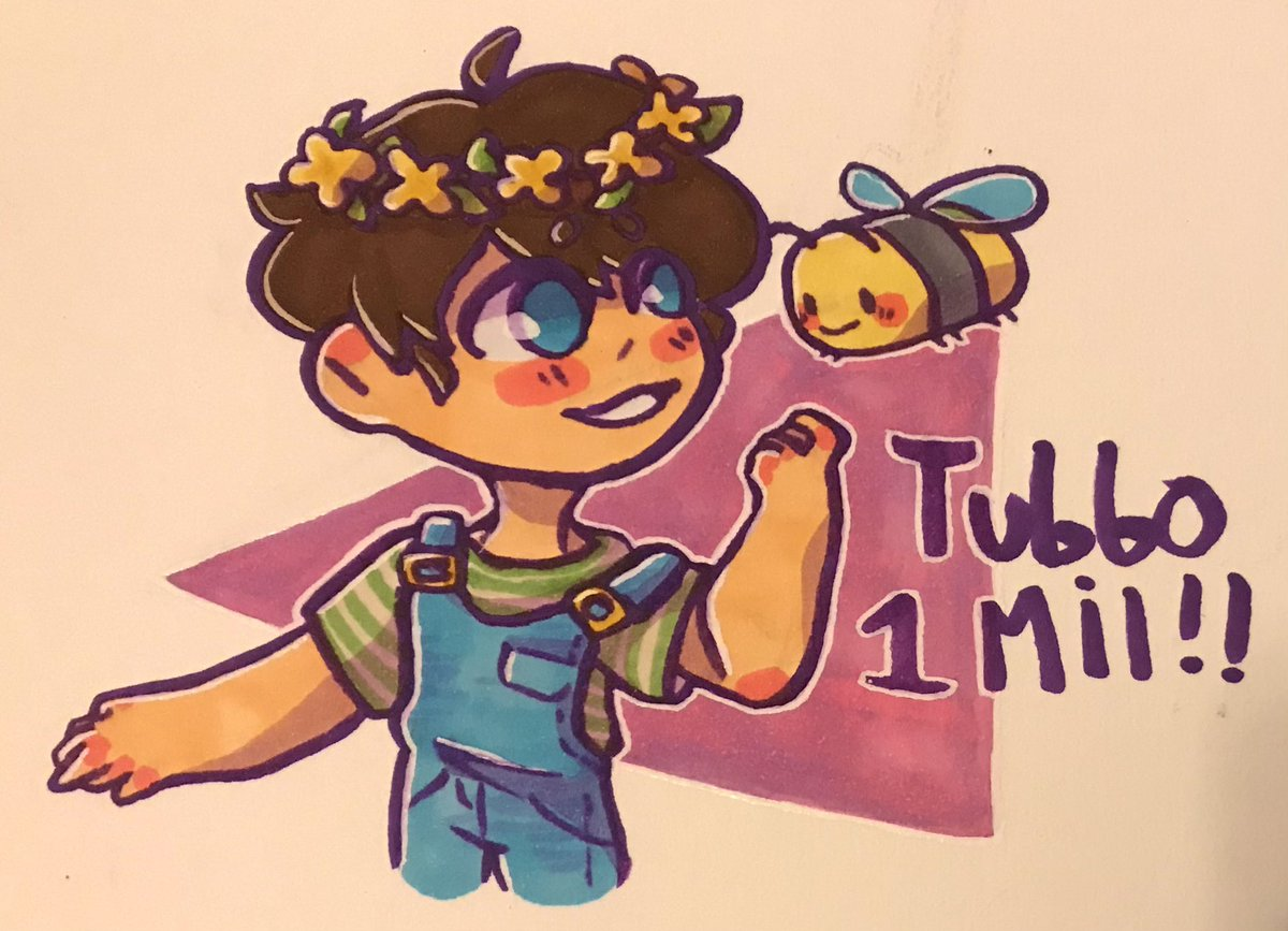 IM A LITTLE LATE BUT TUBBO 1MIL!!!! WOOOOO!! :DDDDD #tubbo1mil