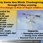 Image for the Tweet beginning: Santa Ana wind for later