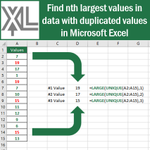 Image for the Tweet beginning: Find nth largest values in