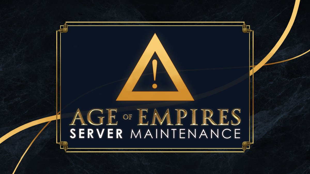⚠️Server Maintenance ⚠️November 24th, 2020 ⚠️2PM PT / 5PM ET / 2200 UTC  ‼️ IN ONE HOUR, Multiplayer servers for Age I, II and III:DE will be down for maintenance. Please make sure you finalize any MP games at least 10 minutes prior. Thank you! Details: