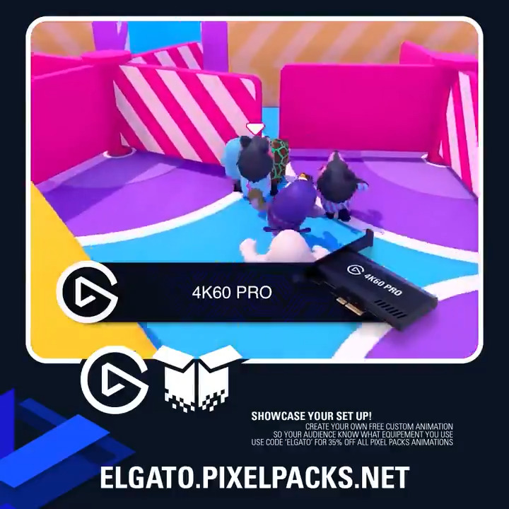 ElgatoGaming - We teamed up with @PacksPixel to bring custom animations to show off your setup gear for FREE!  Enjoy 35% off any additional animations added to your order using code: ELGATO  ➡️