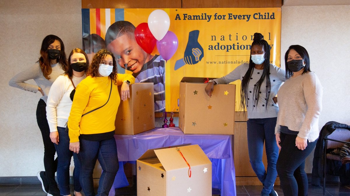 On Friday, our Bergen-Hudson #TeamDCF staff celebrated #NationalAdoptionDay with their families that finalized this year!  They delivered boxes to each child filled with gifts & games that everyone could enjoy together.   Congrats to all the new forever families across the state!