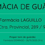Image for the Tweet beginning: ✜ Farmàcia de guàrdia a