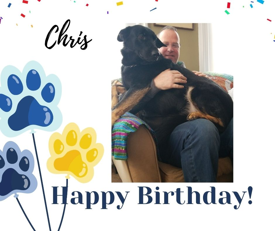 There's more to celebrate today! Wishes for a Very Happy Birthday also going out to Recipient Chris! Hoping you & Super #ServiceDog, Loc have an amazing day💙🎂🐾 #Love #GSD #ServiceDogs https://t.co/XLXZXOduK5