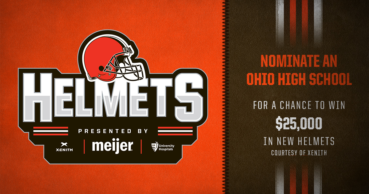 Nominate an Ohio high school to be entered for a chance to win $25,000 worth of new Xenith helmets!   Submit your nomination here » https://t.co/J0is6UsEFz https://t.co/UW3NRv8qK1