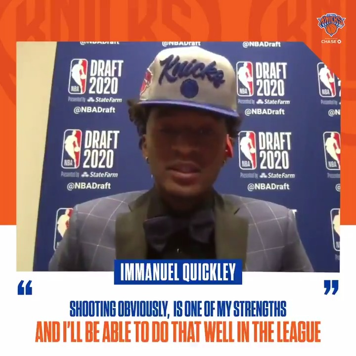 What you can expect from Immanuel Quickley 🔊