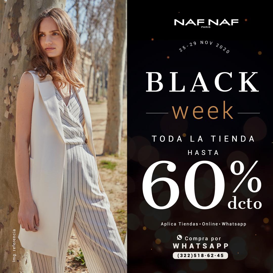 ¡Black Week @NAFNAFCOL Naf! Toda la tienda hasta 60% de descuento.   Te esperamos en nuestra tienda, compra también por WhatsApp (322)5186245 y recibe tu pedido en 3 horas. Válido 25 a 29 de noviembre de 2020.   ¡No te lo pierdas!  Aplica tyc. https://t.co/ZZS37nVyNy