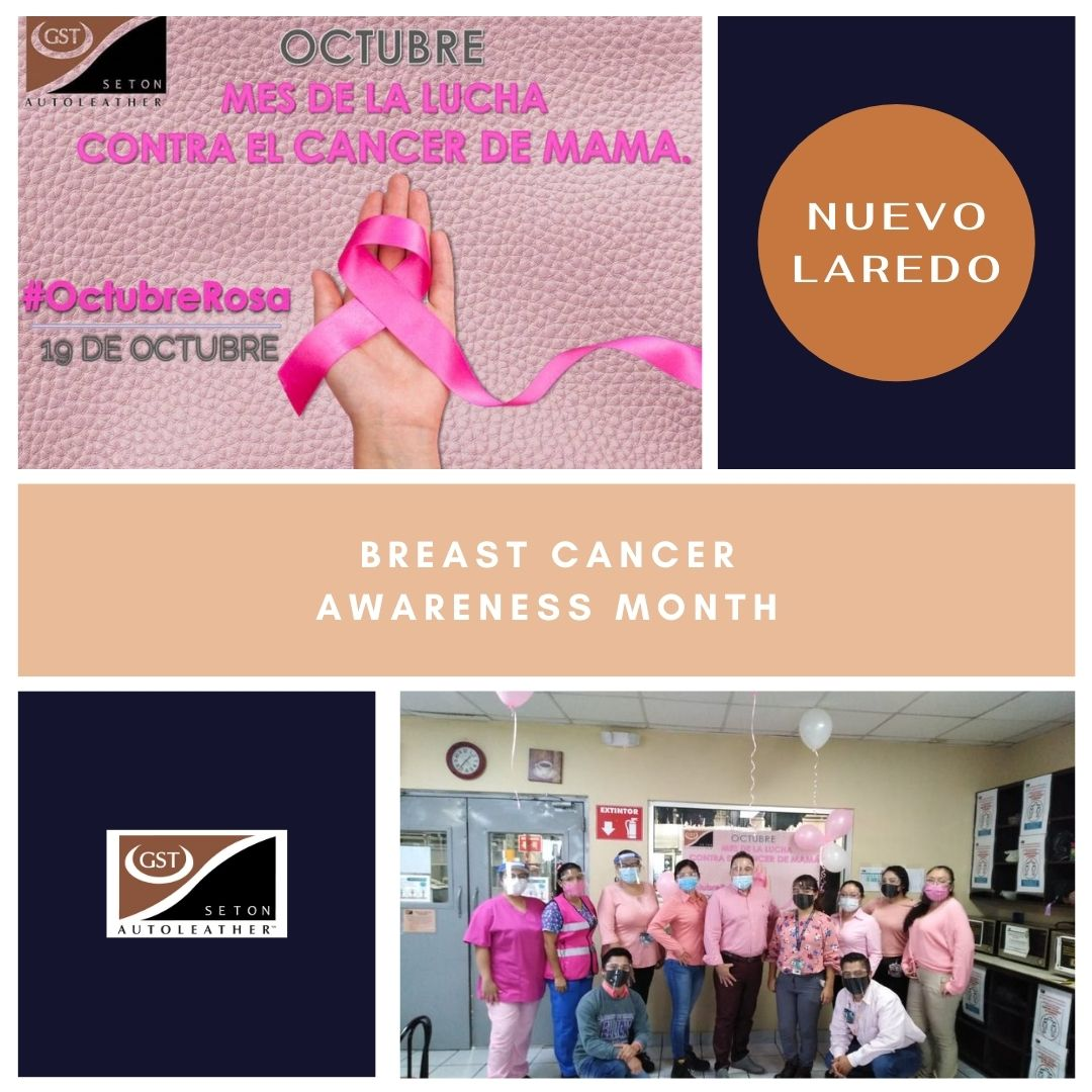 Last month, our team in Nuevo Laredo celebrated Breast Cancer Awareness Month by promoting the importance of self examinations and maintaining scheduled health screenings. #breastcancer #breasthealth #health #breastcancerawarenessmonth #pink #pinkribbon #mammogram #gstautoleather