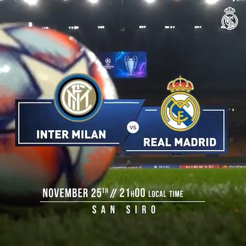 🙌 IT'S MATCHDAY! 🙌  @Inter_en 🆚 @realmadriden  🏆 @ChampionsLeague 👉 Matchday 4 🏟 San Siro ⏰ 21:00 CET #⃣ #RMUCL