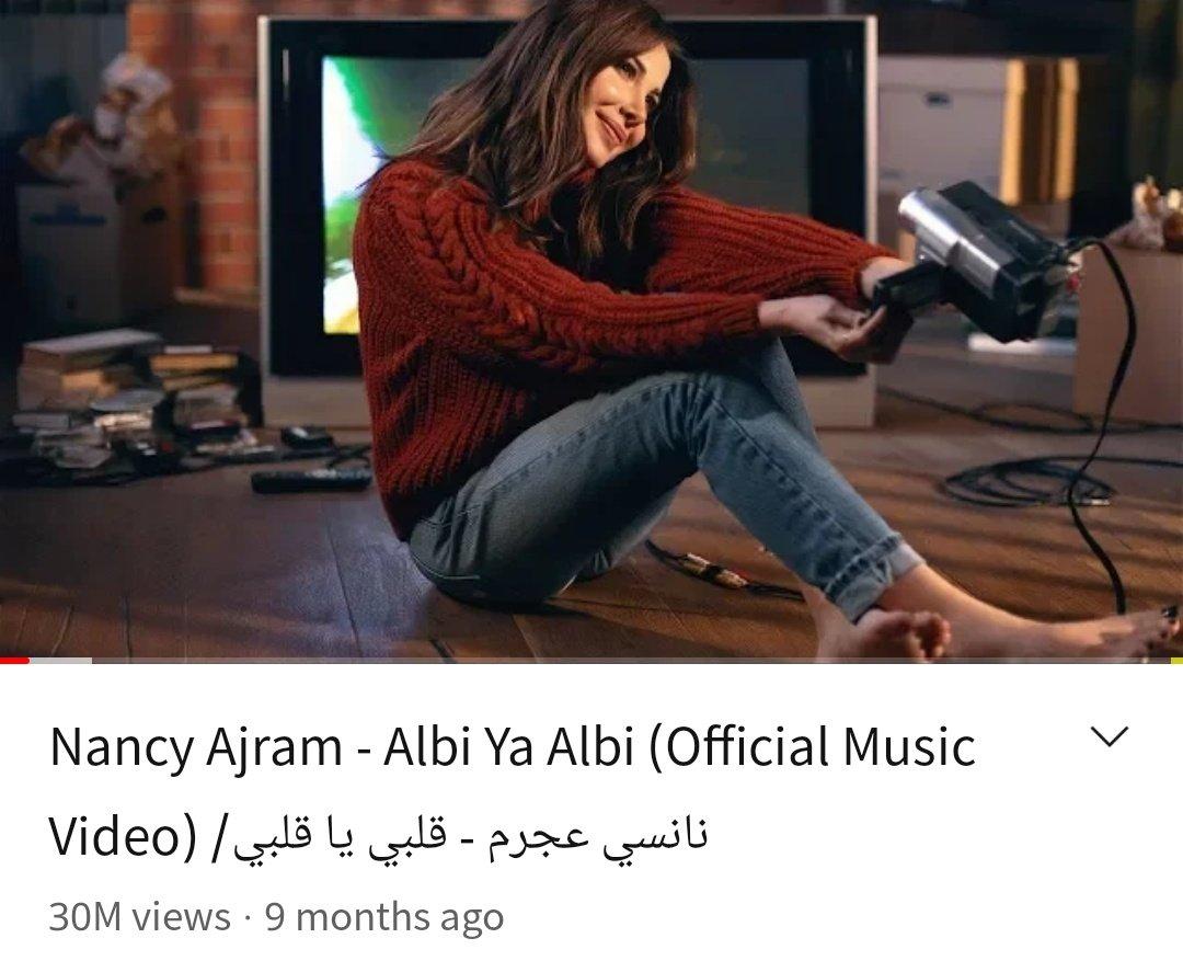 Replying to @NaDaMeL4: 30M views for #ALBIYAALBI Music video 😍❤️ @NancyAjram