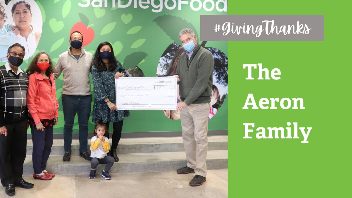 This week we are highlighting members of the community we are thankful for. Today, we celebrate the Aeron family! The family recently celebrated their sons 3rd birthday by donating funds to the Food Bank! This year, Vihaan's family and friends raised $551! Thanks! #GivingThanks