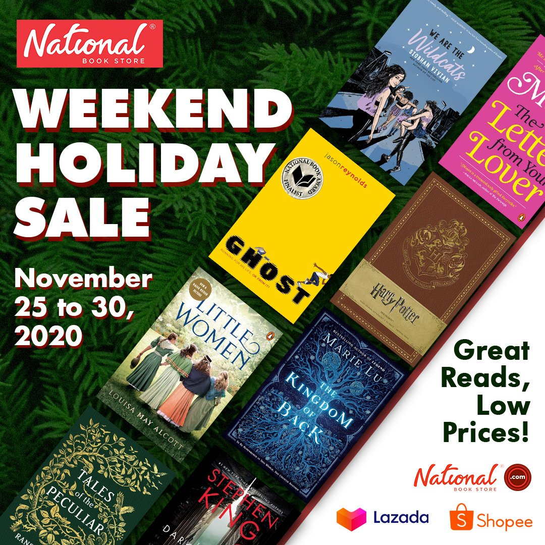 Shop online and get great reads at LOW PRICES! Enjoy our Weekend Holiday Sale online: 🔗 🔗 🔗  Add to cart and checkout now! Sale runs until November 30, 2020 only. #NBSsale #NBSbookstagram #NBSeveryday