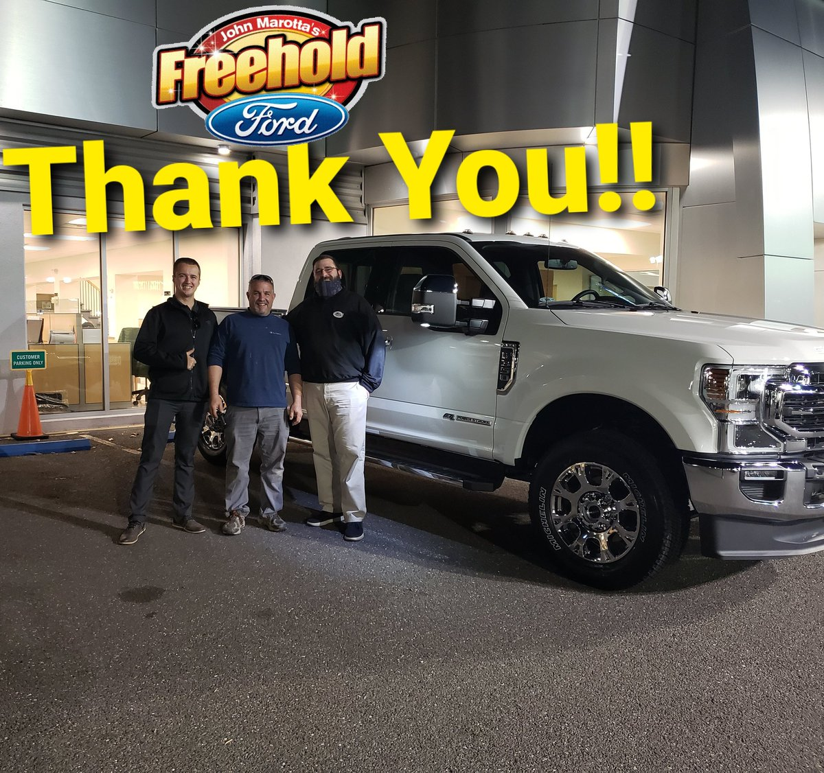 Congratulations Vinny, on your Awesome new Ford F-350 Lariat from Freehold Ford!!  #freeholdford #fordperformance #FORDMOTORCOMPANY #ford #freeholdfordfamily #freeholdtownship #f350superduty #f350 https://t.co/fxxa9HsGHq