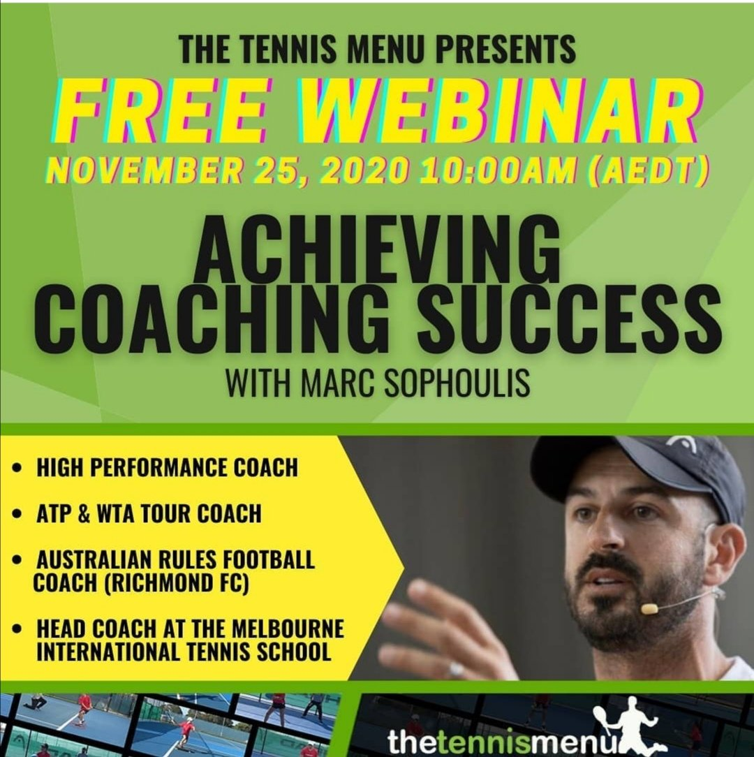 Learning from another interesting webinar. This time with coach @marcsophoulis, by @thetennismenu. 🎾🧠🤓💪👍✌️ #tennis #tenis #coach #coaching #thetennismemu https://t.co/gggqdrLuso