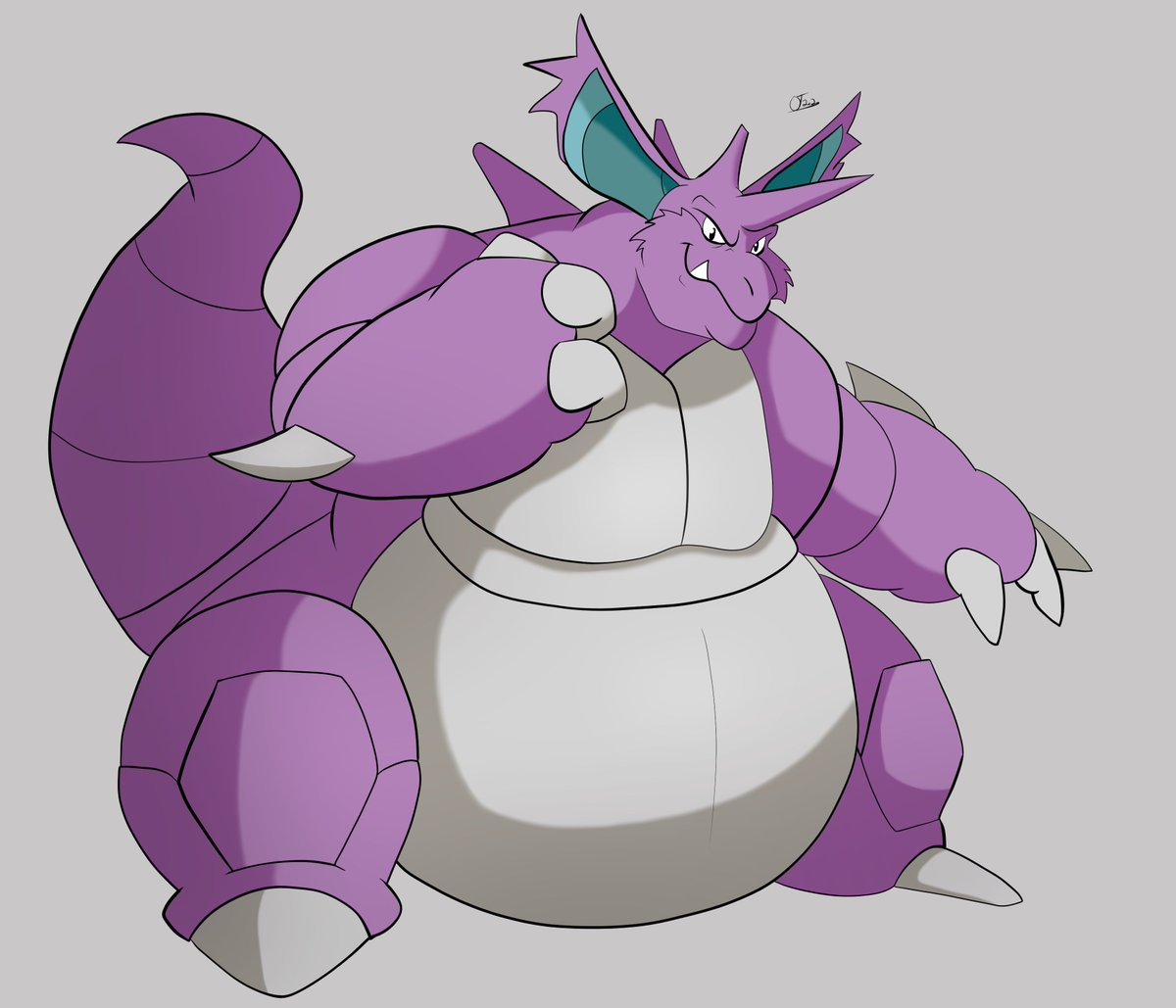 Still have that pokemon itch, so heres some more nidoking.
