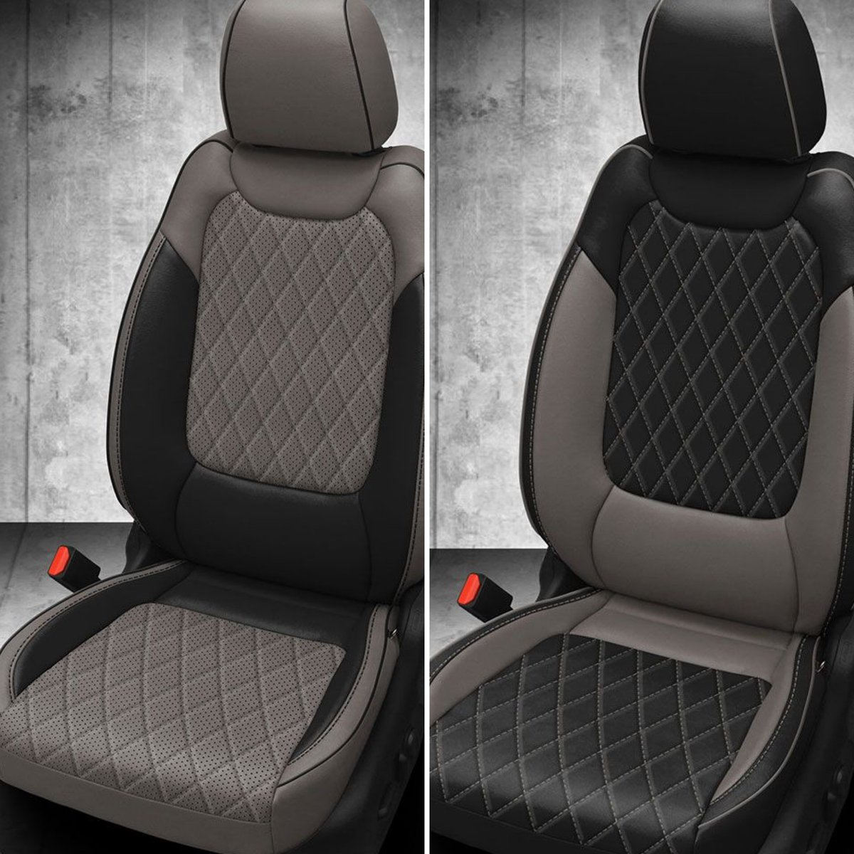 Hmm, similar but different...do you prefer the left or right?  Interested in Katzkin or have questions? Give us a call at 877-811-8840!  #custominterior #katzkin #katzkinleather #leatherupgrade #carupgrade #becauseclothsucks #leatherisbetter #loveyourdrive #carupholstery https://t.co/TifI8pRa4u