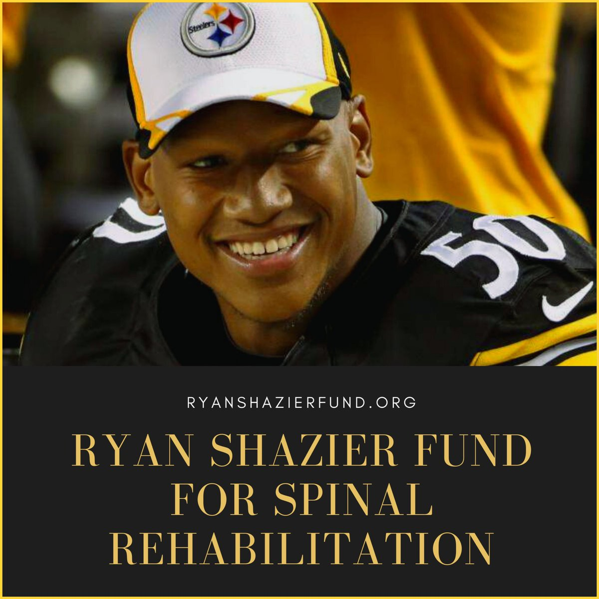 Congrats to Ryan Shazier on the launch of his Spinal Rehab foundation. I'm sure you will help many people. Wishing you all the best in everything that you do‼️#HereWeGo #Steelers .@RyanShazier Steelers