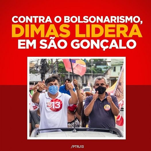Nosso Coletivo faz um chamamento a todos/todas Tricolores de Esquerda de São Gonçalo/RJ. Somos pelo unidade popular representada pela candidatura Dimas/Marlos. (PT/PDT) Vamos vencer o atraso bolsonarista !  Dia 29/11 VOTE DIMAS 13 !  #Dimas13 #PTRJ #PDTRJ #Eleicoes2020 #TDE