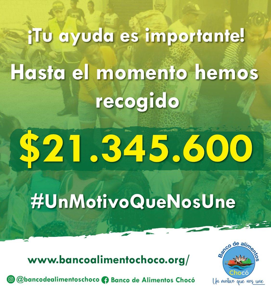Estamos muy agradecidos con las personas y organizaciones que nos han ayudando con sus donaciones para damnificados de la ola invernal en el Chocó. Dios les pague 🙏🏾🙏🏾🙏🏾 #UnMotivoQueNosUne #soschocó #Fuerzachocó
