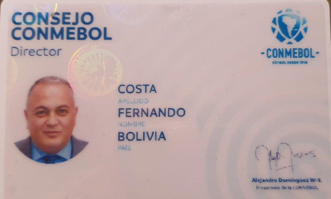 #CONMEBOL   COSTAS TOTALMENTE RECONOCIDO...!!!  El presidente de la #FBF, Ángel Fernando Costa, fue acreditó como Director de la #CONMEBOL en el Consejo de cierre de año que se realiza en Luque - Paraguay esta jornada