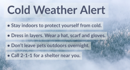 Cold Weather Alert: Cold Temperatures Expected in Parts of Los Angeles County.  View  for more.