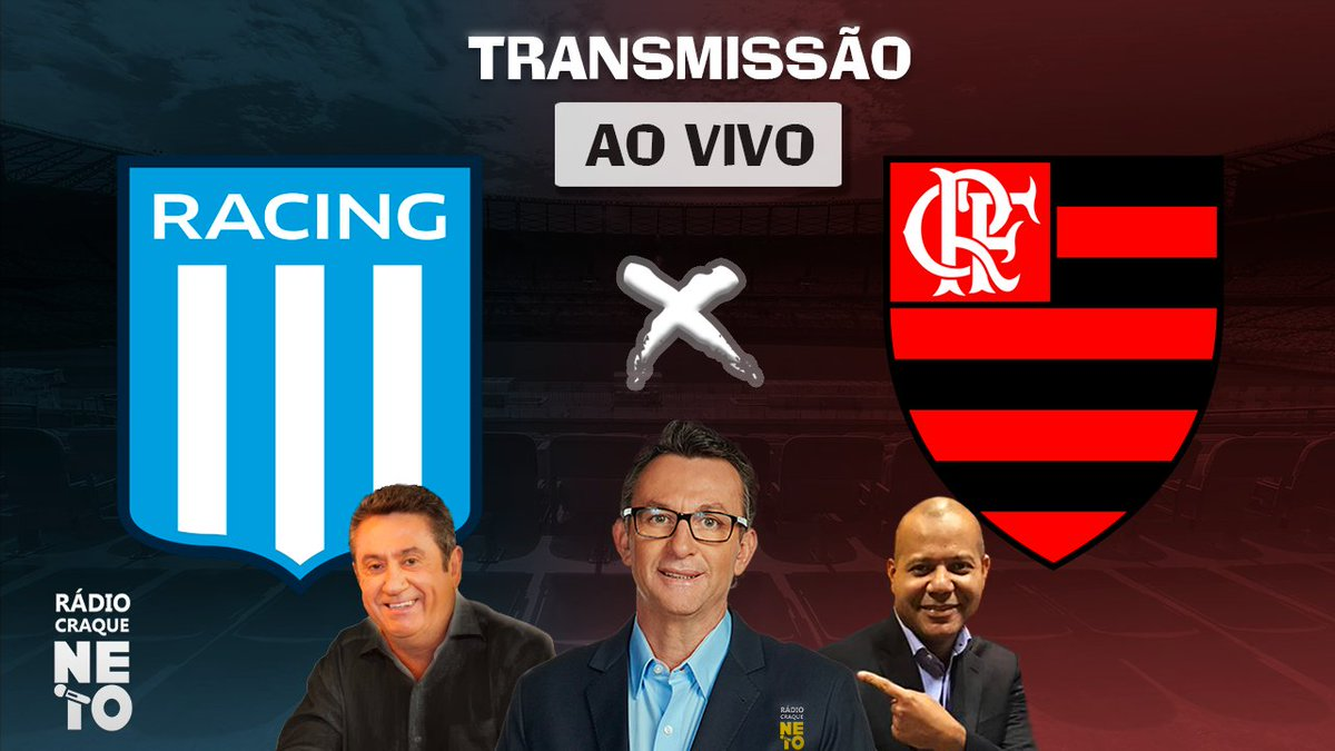 @Flamengo Estamos AO VIVO na Rádio Craque Neto para a transmissão entre Racing x Flamengo pelo Copa Libertadores. Acompanhe em: https://t.co/LqAEMKs2MA https://t.co/BaZFJHD1ir