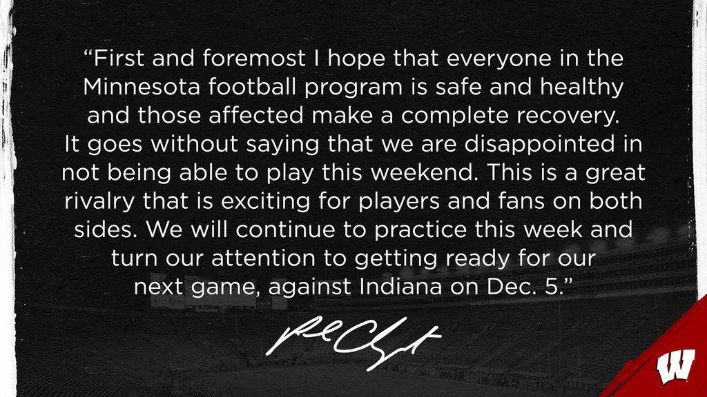 A message from Coach Chryst: https://t.co/XzwnxUcbx0