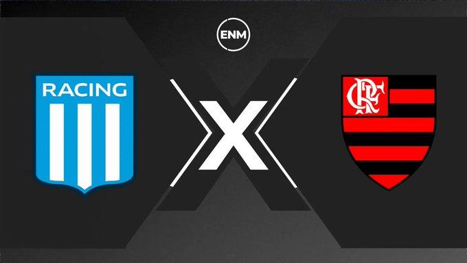 FIM DE PRIMEIRO TEMPO! ⚽  Tudo igual na Argentina!  Racing 1 x 1 Flamengo  Acompanhe o Tempo Real da partida no #PortalENM  https://t.co/0FuOMdCBCv https://t.co/LY7xHIENMn