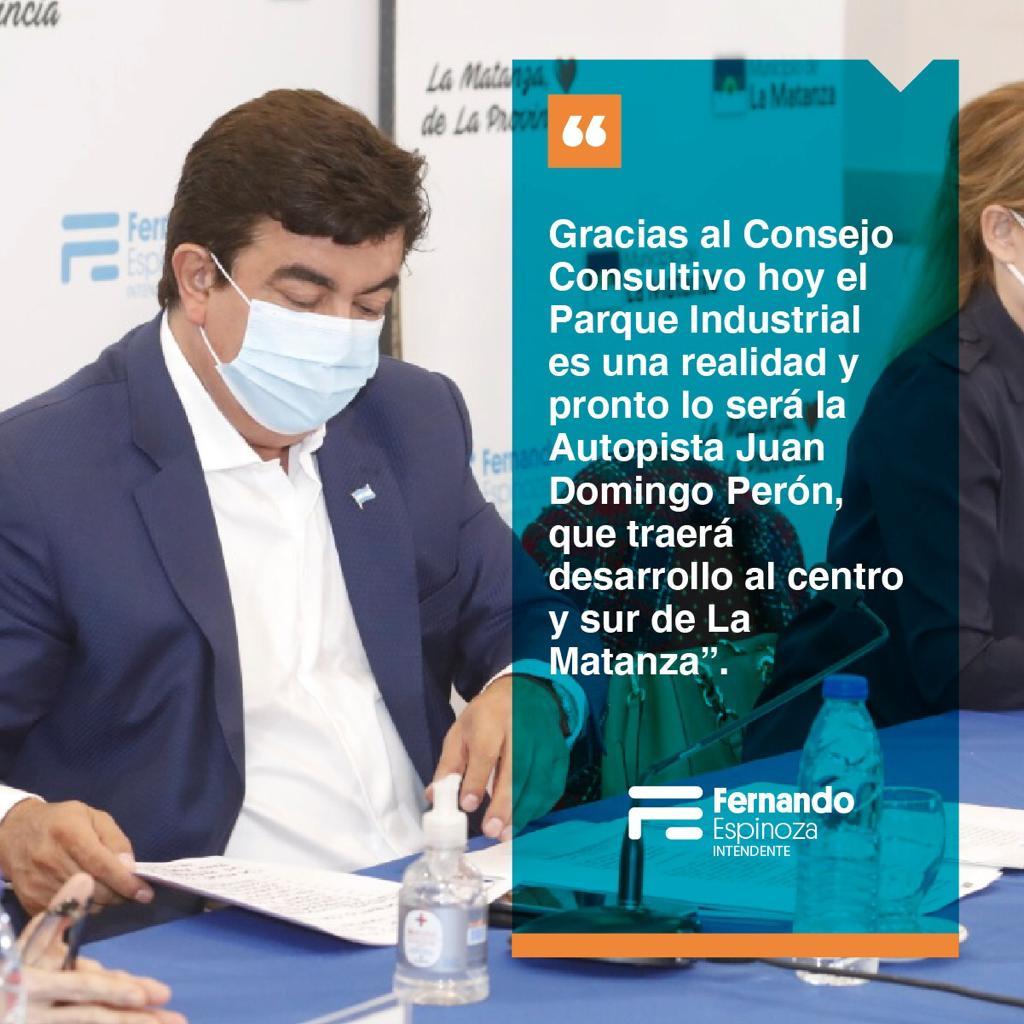 El Consejo Consultivo de La Matanza es un proyecto nacido en el distrito con el objetivo de crear el Plan Estratégico para el municipio junto a todas las organizaciones de la comunidad.