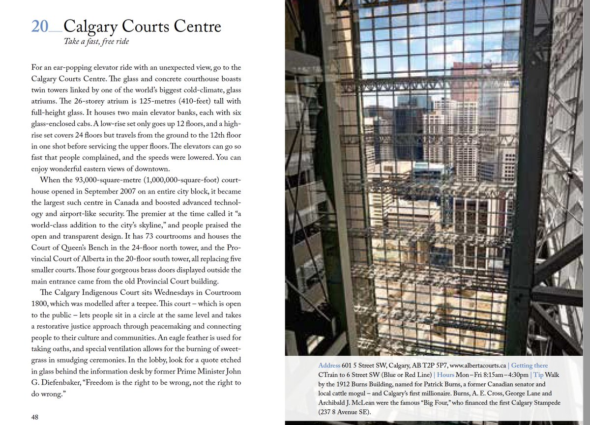 Who knew that the Calgary Courts Centre has a spectacular elevator ride with a view of downtown thanks to a massive atrium? Chapter 20/111. #calgary @111places @TourismCalgary #111places