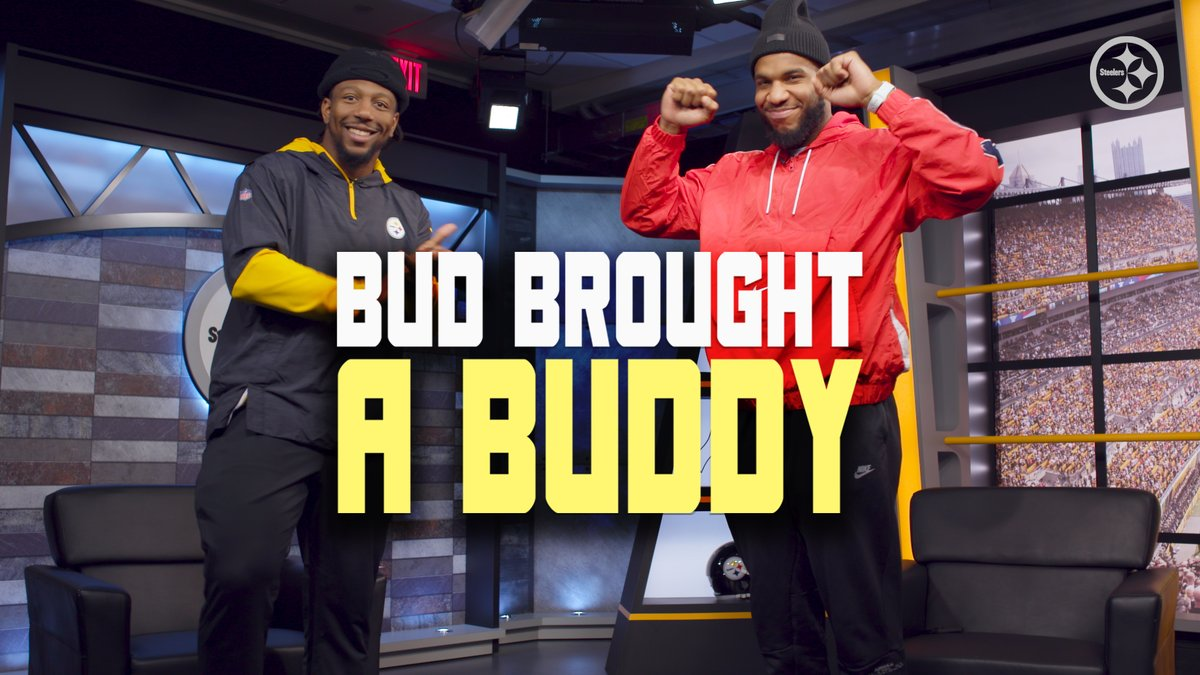 🚨 NEW BUD BROUGHT A BUDDY 🚨  @Bud_Dupree brings @Ebron85 on the show to talk about who his best bud is, his choice to sign with the #Steelers, his favorite #Thanksgiving food and much more.  Full 🎥: