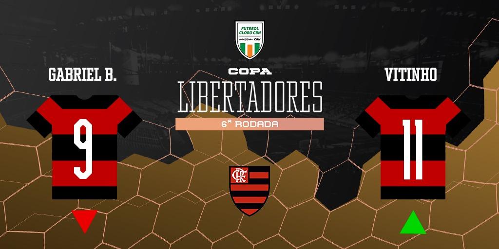 15' do 2º T | @Flamengo mexeu.   ◀️Sai: @gabigol  ▶️Entra: Vitinho  Siga ao vivo! 📻 92,5 FM | 98,1 FM 💻 https://t.co/ftP9Bbob6O 💻 https://t.co/XEy3EdIPAZ #FutGloboCBN https://t.co/SSLSSBVKq9