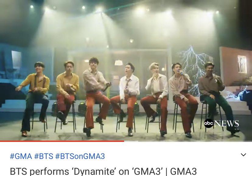 GMA3のDynamiteパフォーマンス動画こちらも外モニターが映らないバージョンが上がりました🥳🔗あと最近のBEカムバの出演番組はとりあえずほぼまとめれているはずです時間あるときごゆっくり🙆♀️→