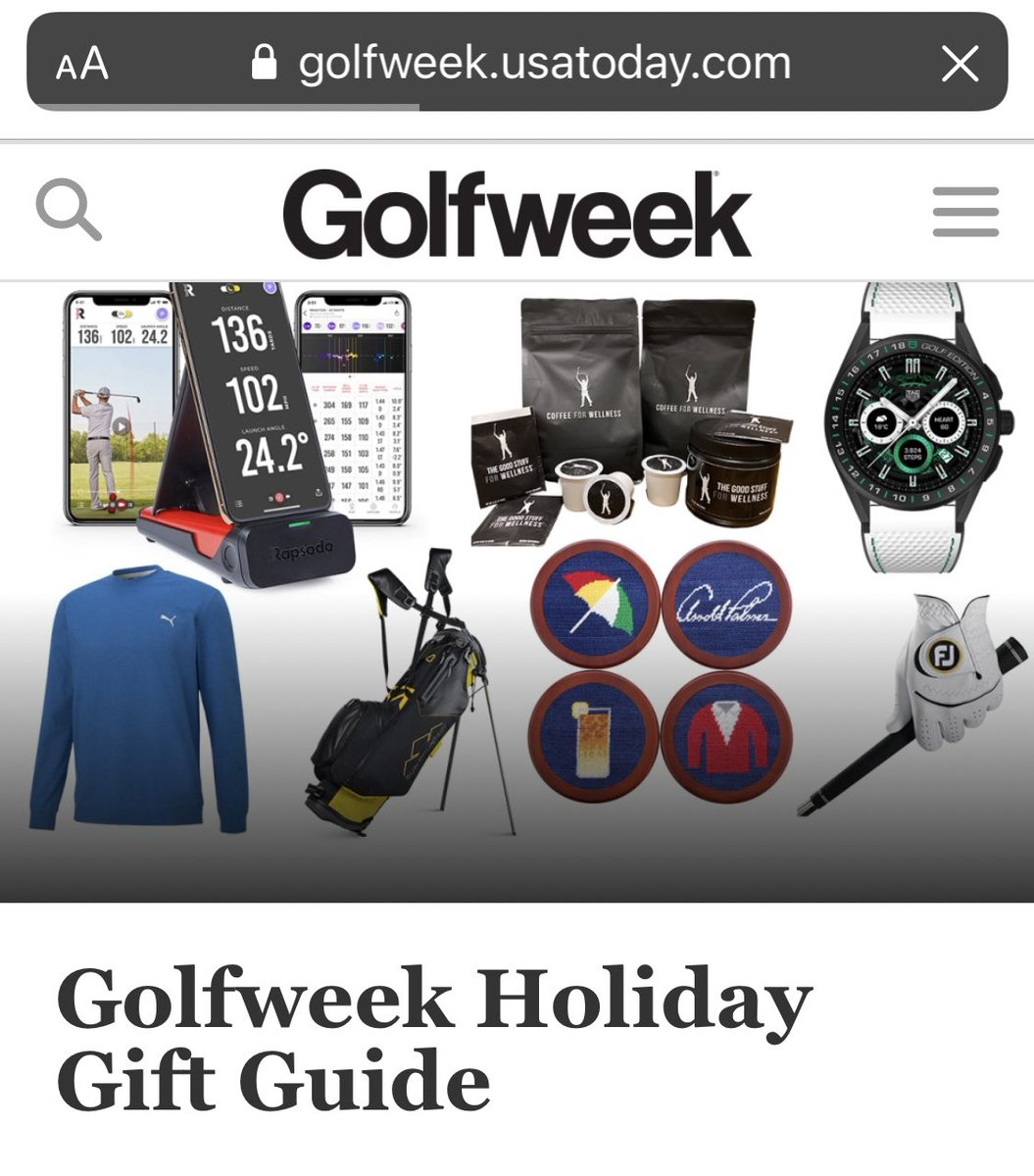 So excited to see Coffee for Wellness in Golfweek's Holiday Gift Guide. Give the gift of wellness this year!