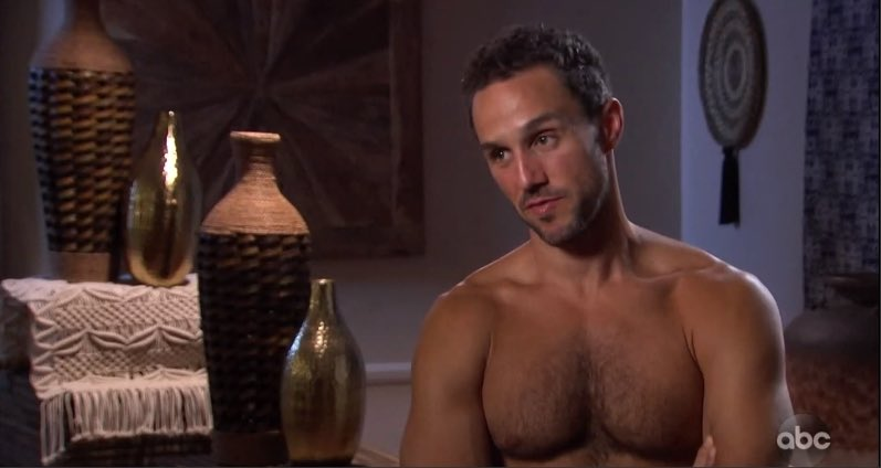 You guys, did we just start doing shirtless interviews this season?? I do not remember them happening before and we are getting them every week?!?! Is it just really hot in Palm Springs? #TheBachelor historians, pls help me #TheBachelorette