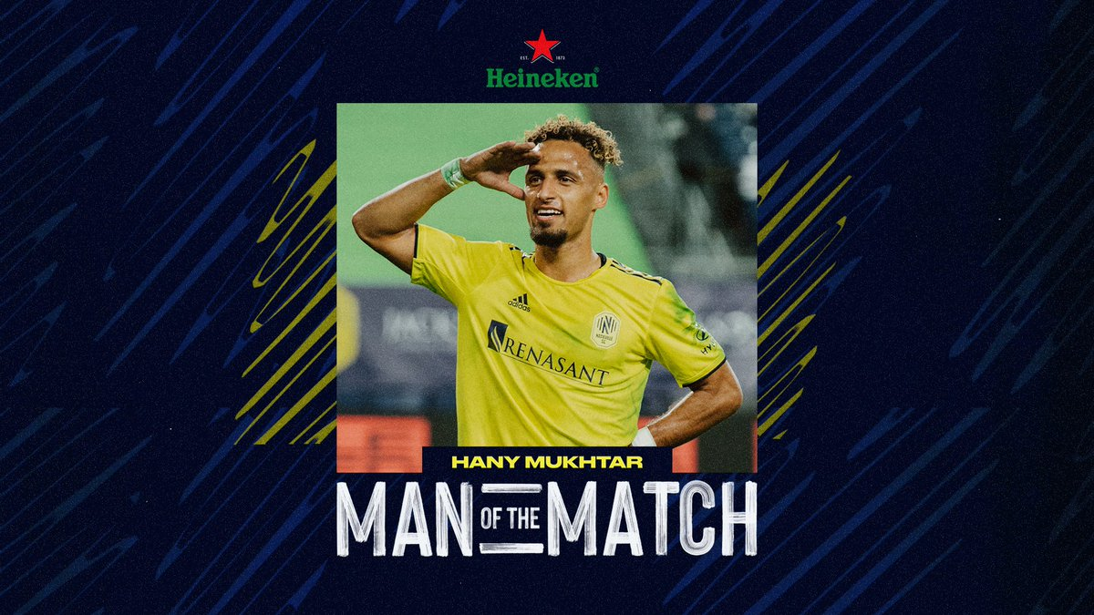 Our maestro in the midfield. The brilliant setup for the match winner.   Hany Mukhtar is your @Heineken_US Man of the Match.   #EveryoneN #TORvNSH