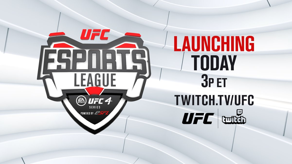 GAME ON 🎮  Tune in LIVE today as we launch our very first eSports league on @Twitch featuring the top 1️⃣6️⃣ UFC 4 players in the world!   [ @ESFLGaming | @EASportsUFC | 3pm ET 👉 https://t.co/v7JS2khOro ] https://t.co/fBGH6BZyD4