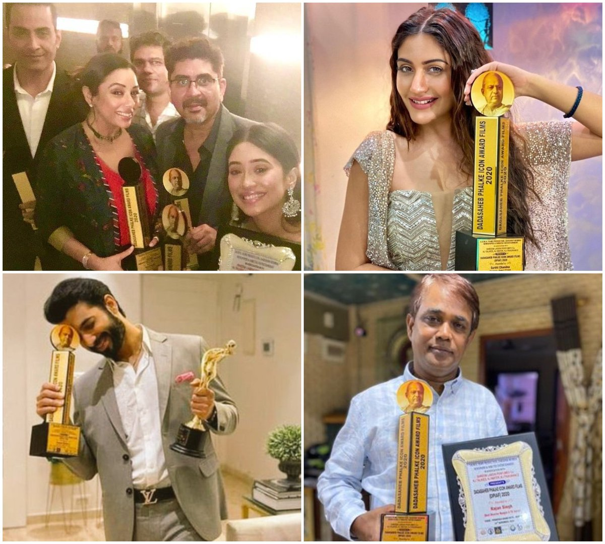 Best Actress -#SurbhiChandna Best Actor -#SharadMalhotra Best Director - #Naagin5 Best Jodi - #Kaira #ShivangiJoshi - #MohsinKhan Adaa Khan, Arjun Bijlani also won award at #DadaSahebPhalkeAwards 2020 #SharadMalhotra #VAni  #YRKKH #AdaaKhan #ArjunBijlani #anupama  Writer: Twitter https://t.co/Kqa0R9ugBg