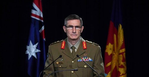 Chief of the Australian Defense Force General Angus Campbell delivers the findings from the inspector general of the Australian Defense Force Afghanistan Inquiry, in Canberra on November 19, 2020 https://t.co/dGPsEtiSda