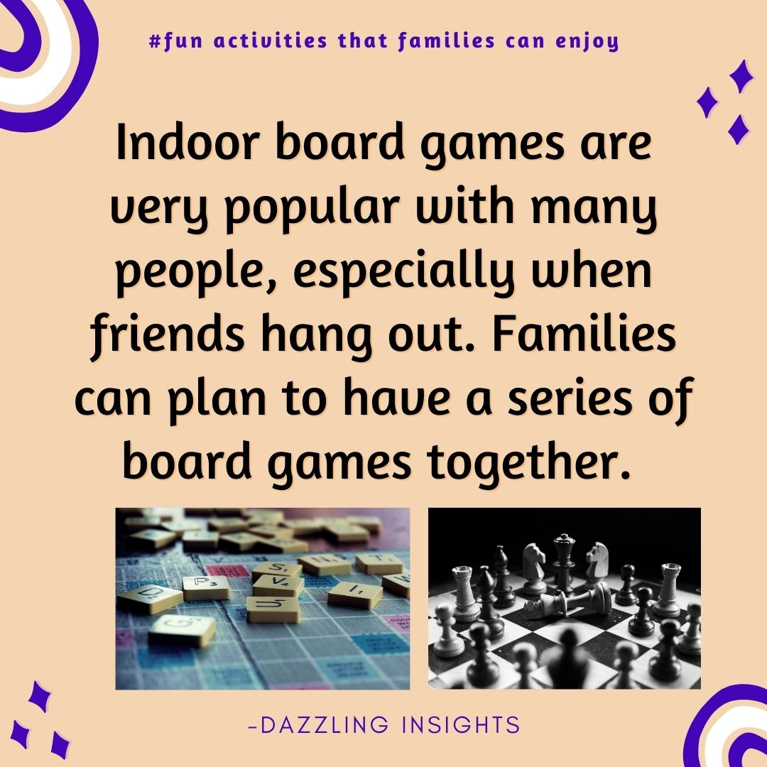 Families can play indoor board games together. Click on the link and learn more. Also, follow Dazzling Insights on Facebook, Instagram & Twitter. #family #fun #activities #games #familytime #funtime #relationships #children #parents #life #dazzlinginsights https://t.co/X3pyvc0zr0 https://t.co/e38F6tJ7I6
