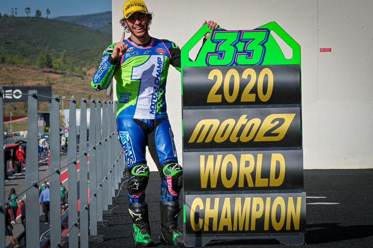 Enea Bastianini, 2020 #Moto2 World Champion https://t.co/qldjl7Y966