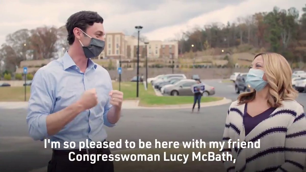 Replying to @ossoff: .@LucyMcBath is a hero and an inspiration.