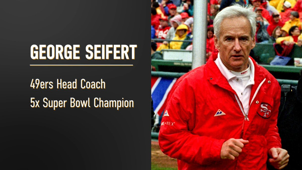 Congratulations to San Jose Sports Hall of Fame Class of 2021 Inductee George Seifert! A 5 x @NFL Super Bowl Champion with the @49ers including 2 as Head Coach!🏆